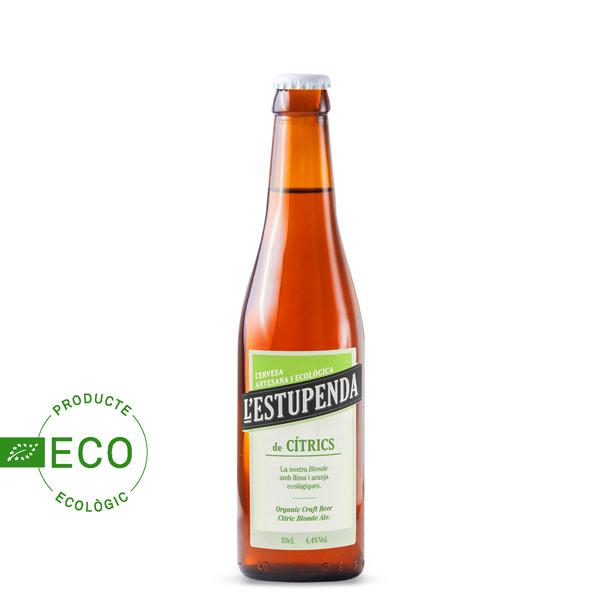 Cerveza Artesana Ecológica l'Estupenda Cítricos